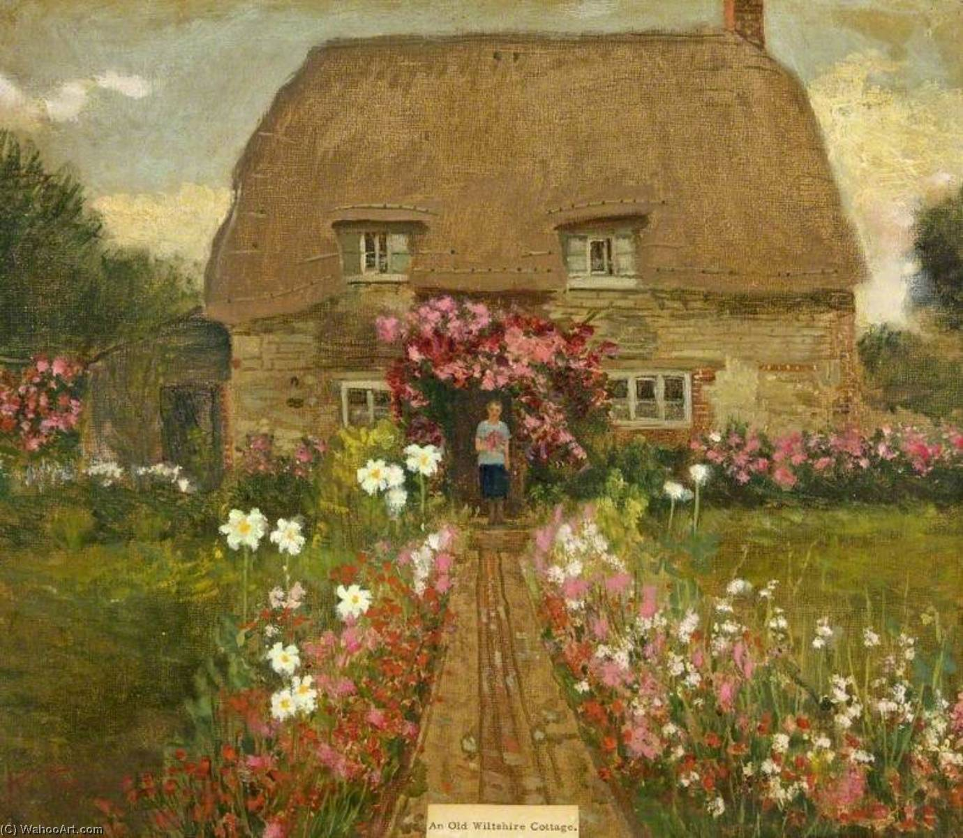 Order Art Reproductions | An Old Wiltshire Cottage by Kate Allen Tryon | WahooArt.com