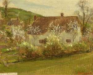 Kate Allen Tryon - A Cottage in Chiseldon Coomb, Wiltshire