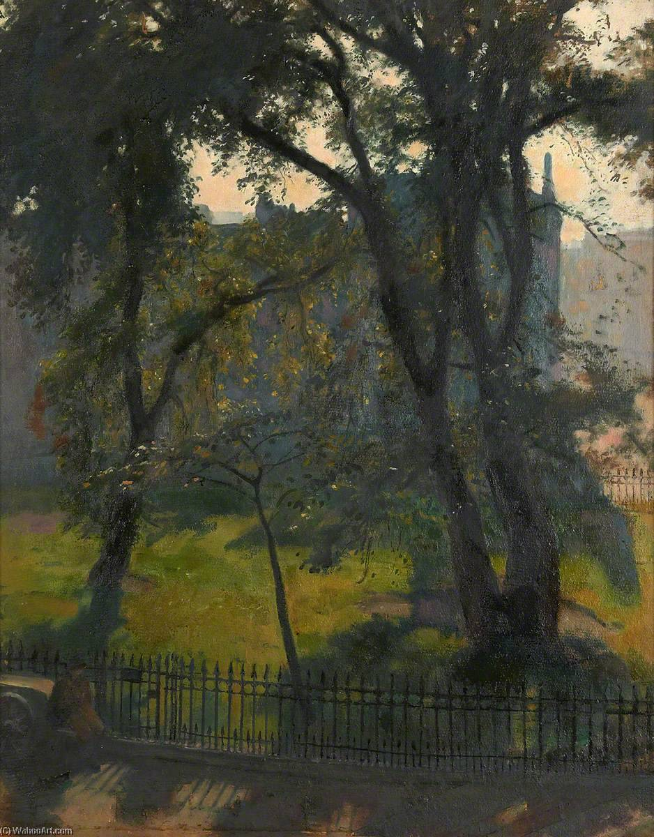 St Bernard's Crescent from Studio Window by Henry John Lintott | Art Reproductions Henry John Lintott | WahooArt.com