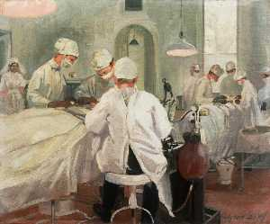 John Hodgson Lobley - The Queen's Hospital for Facial Injuries, Frognal, Sidcup The Operating Theatre