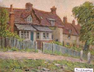 Henry Childe Pocock - 'The Plough Inn' and Cottages, Holcombe Hill, Mill Hill