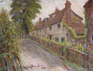 Henry Childe Pocock - Old Cottages, Holcombe Hill, Mill Hill