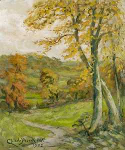 Henry Childe Pocock - View from The Ridgeway to Totteridge, in Autumn