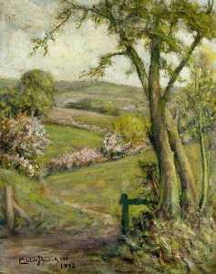 Henry Childe Pocock - View from The Ridgeway to Totteridge, in Spring