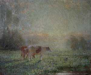 Lindsay Grandison Macarthur - Cattle in a Meadow