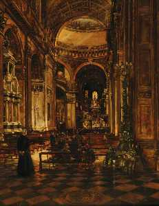 Joseph William Topham Vinall - Interior of St Paul's Cathedral, London