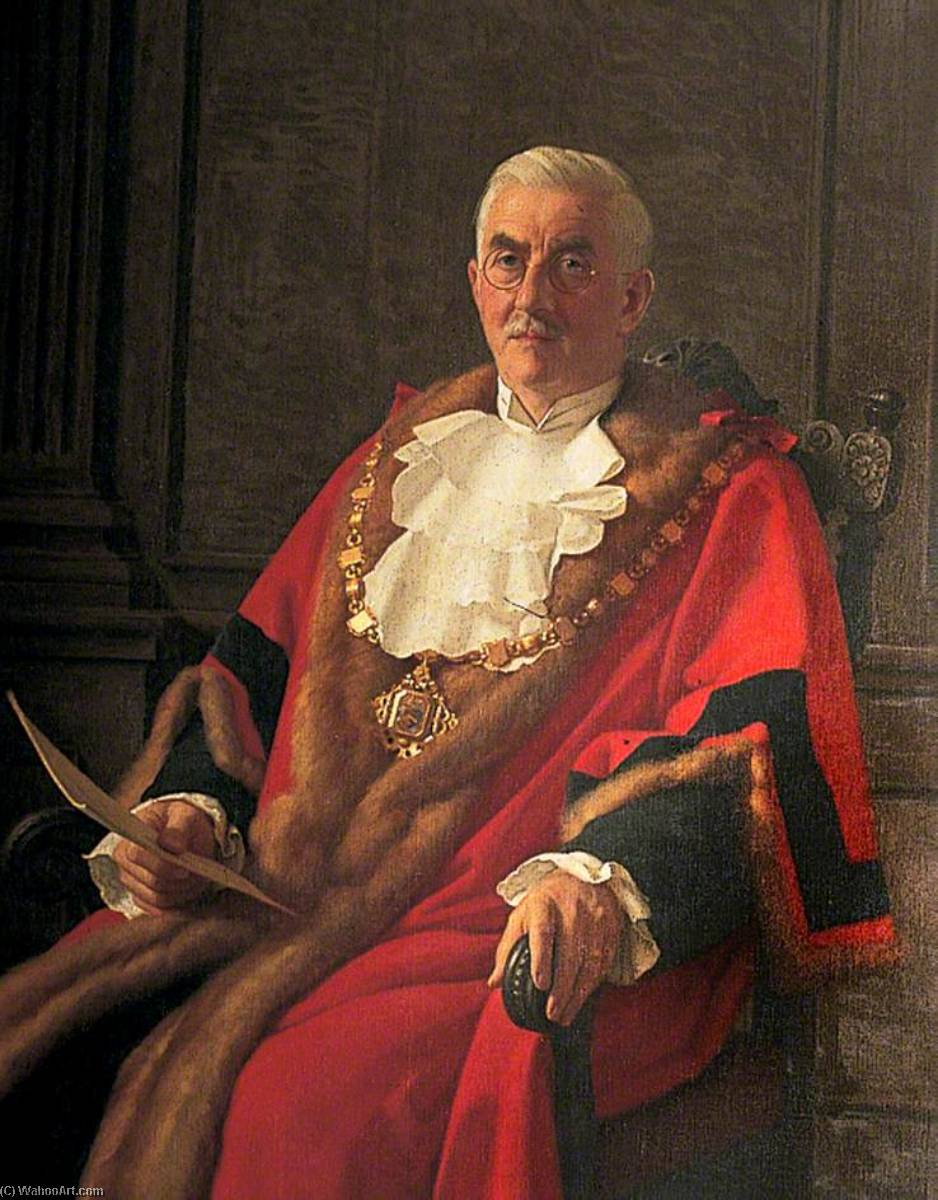 F. J. Cornford, Mayor of Margate (1942–1947), 1946 by John Bulloch Souter | Painting Copy | WahooArt.com
