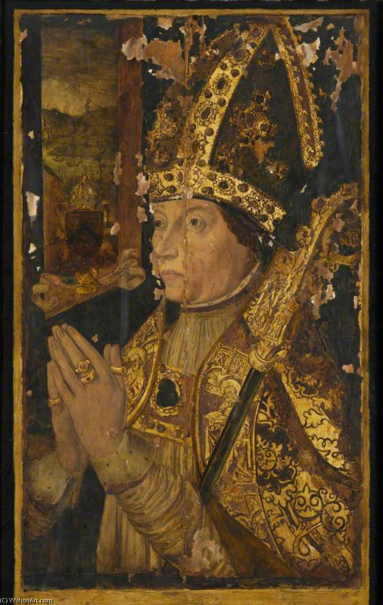 William Elphinstone (1431–1514), Bishop of Aberdeen (copy of an earlier painting) by John Bulloch Souter | Museum Quality Reproductions | WahooArt.com