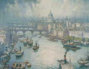 Alfred Egerton Cooper - The Pool of London