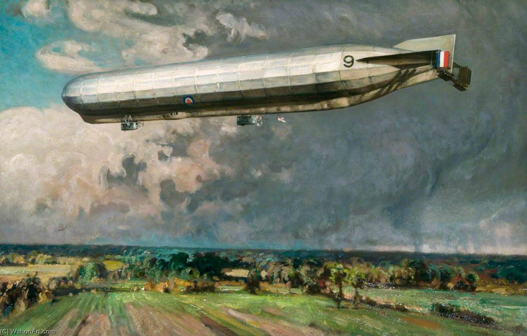 Airship 9, Oil On Canvas by Alfred Egerton Cooper