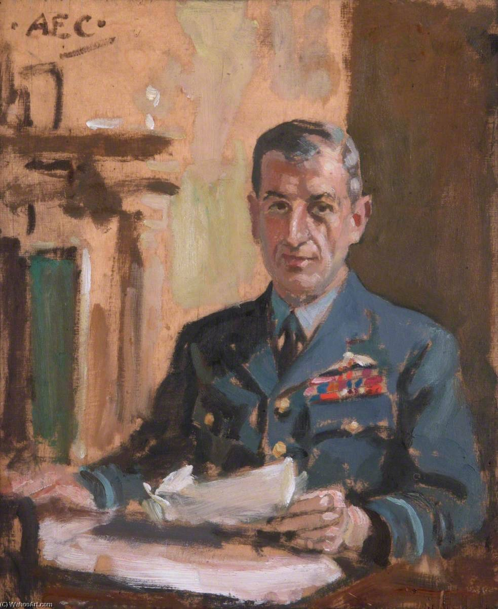 Marshal of the Royal Air Force Lord Portal (1893–1971), Oil On Canvas by Alfred Egerton Cooper