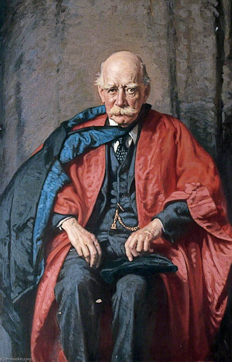 Sir Oliver Lodge (1851–1940), Oil On Canvas by Alfred Egerton Cooper