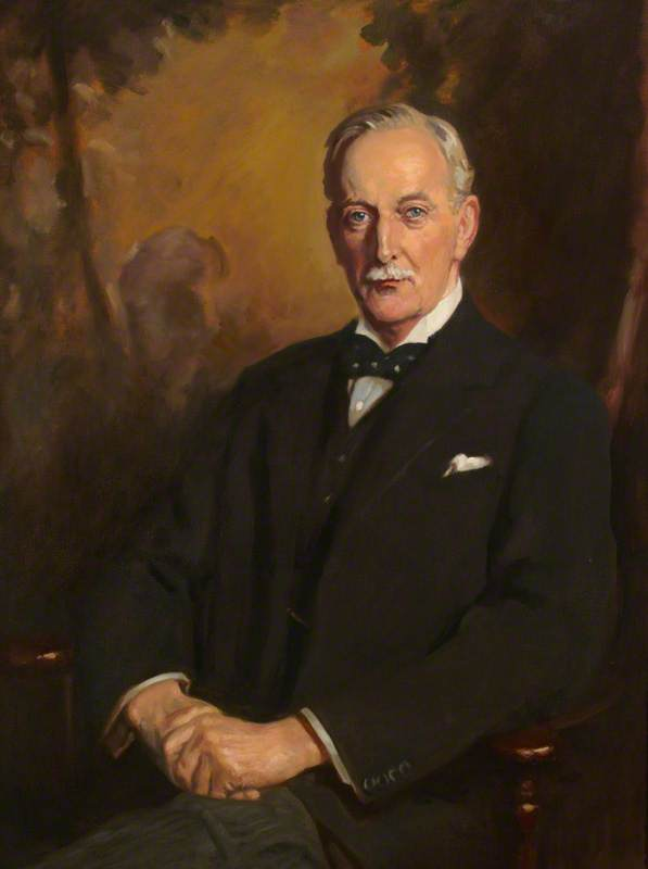 Sir Cuthbert Wallace (1867–1944) (copy after George Harcourt), Oil On Canvas by Alfred Egerton Cooper