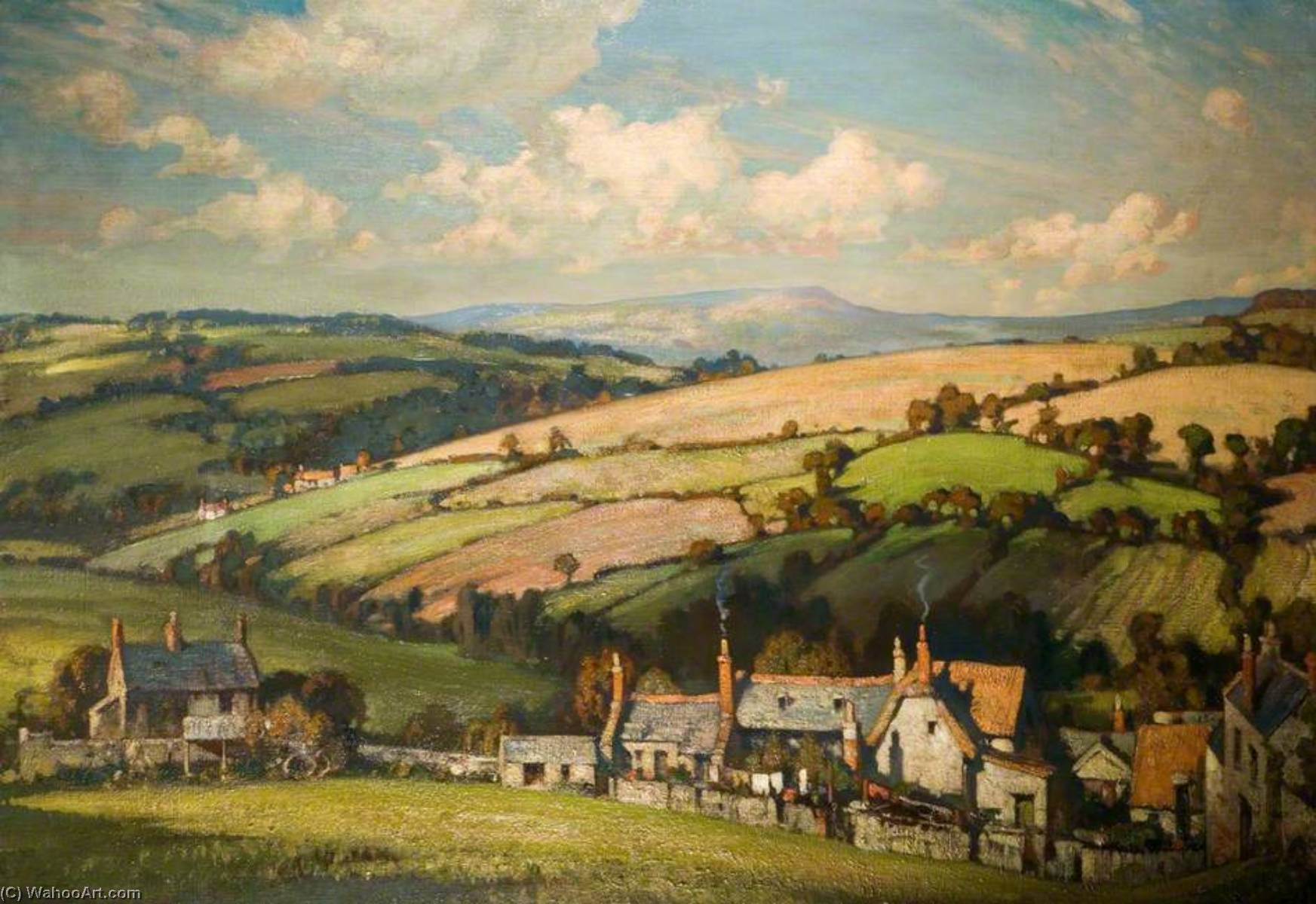 Dorset Landscape, Oil On Canvas by Alfred Egerton Cooper