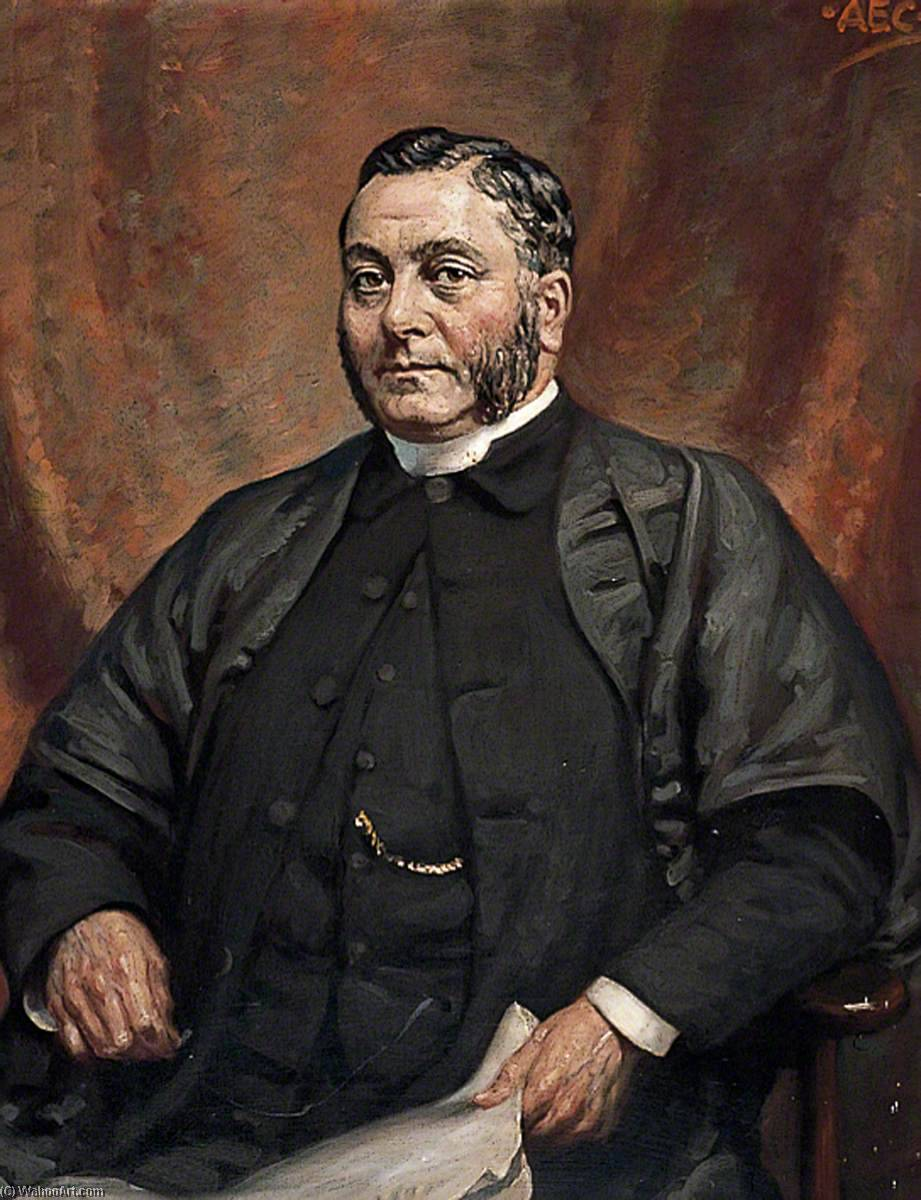 Reverend Richard Lee, Headmaster by Alfred Egerton Cooper | Famous Paintings Reproductions | WahooArt.com