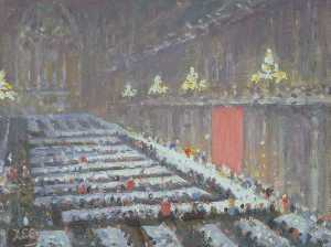 Alfred Egerton Cooper - Lord Mayor-s Banquet in the Guildhall, London, 1963
