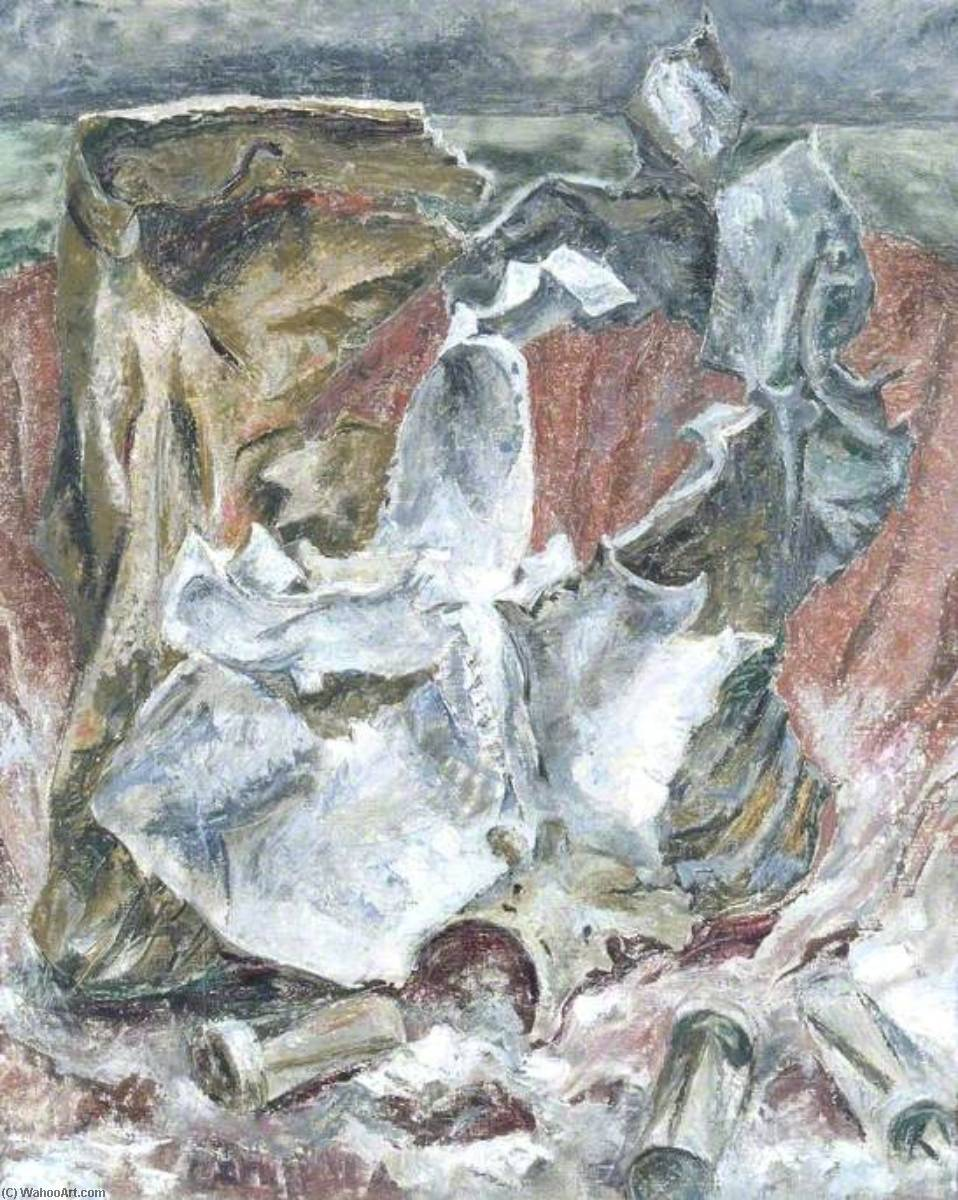 Bomb Fragments with Incendiaries, 1944 by Kaff Gerrard | Paintings Reproductions Kaff Gerrard | WahooArt.com