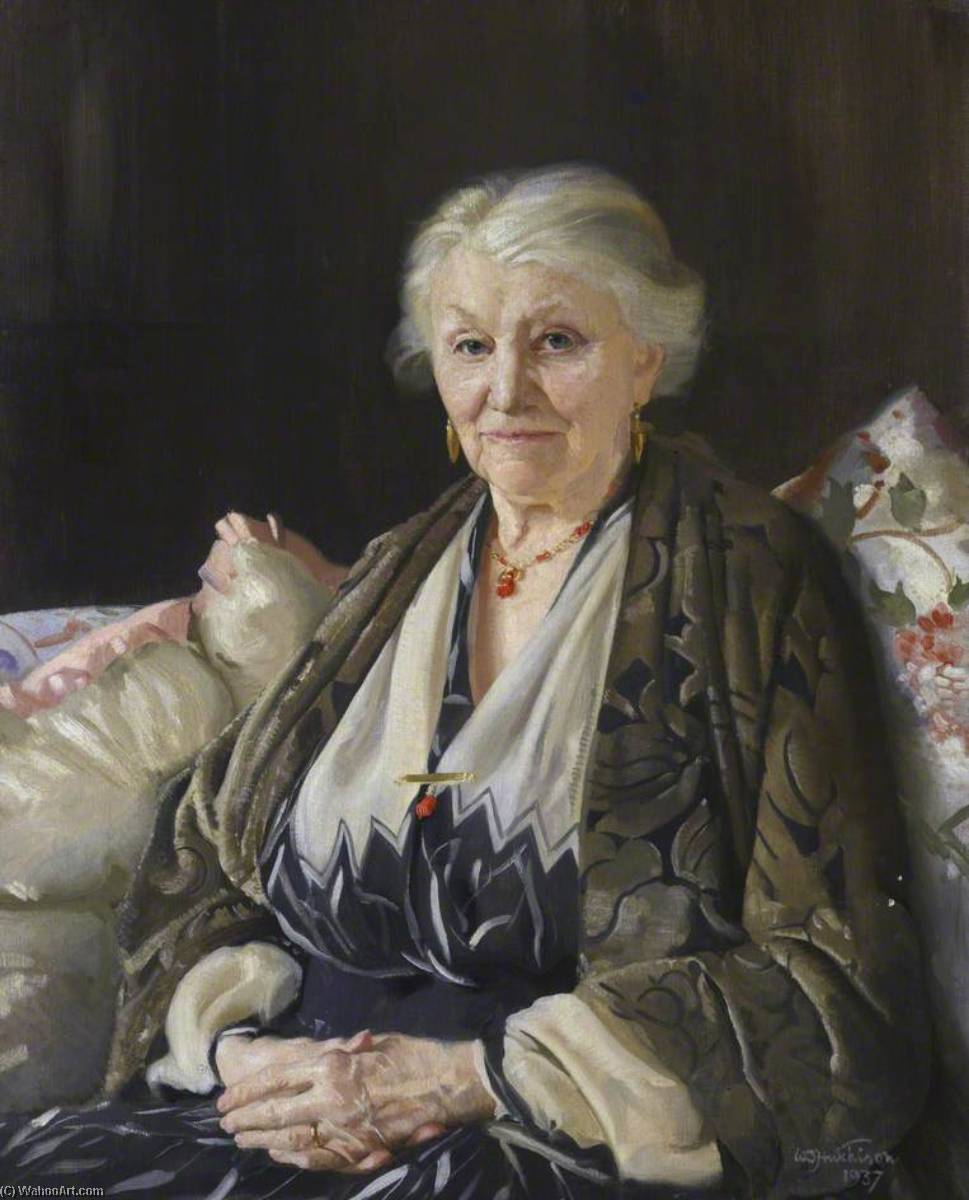 The Artist`s Mother, 1937 by William Oliphant Hutchison | Art Reproduction | WahooArt.com