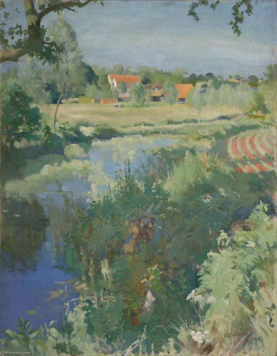 Letheringham Mill, 1934 by William Oliphant Hutchison | Famous Paintings Reproductions | WahooArt.com