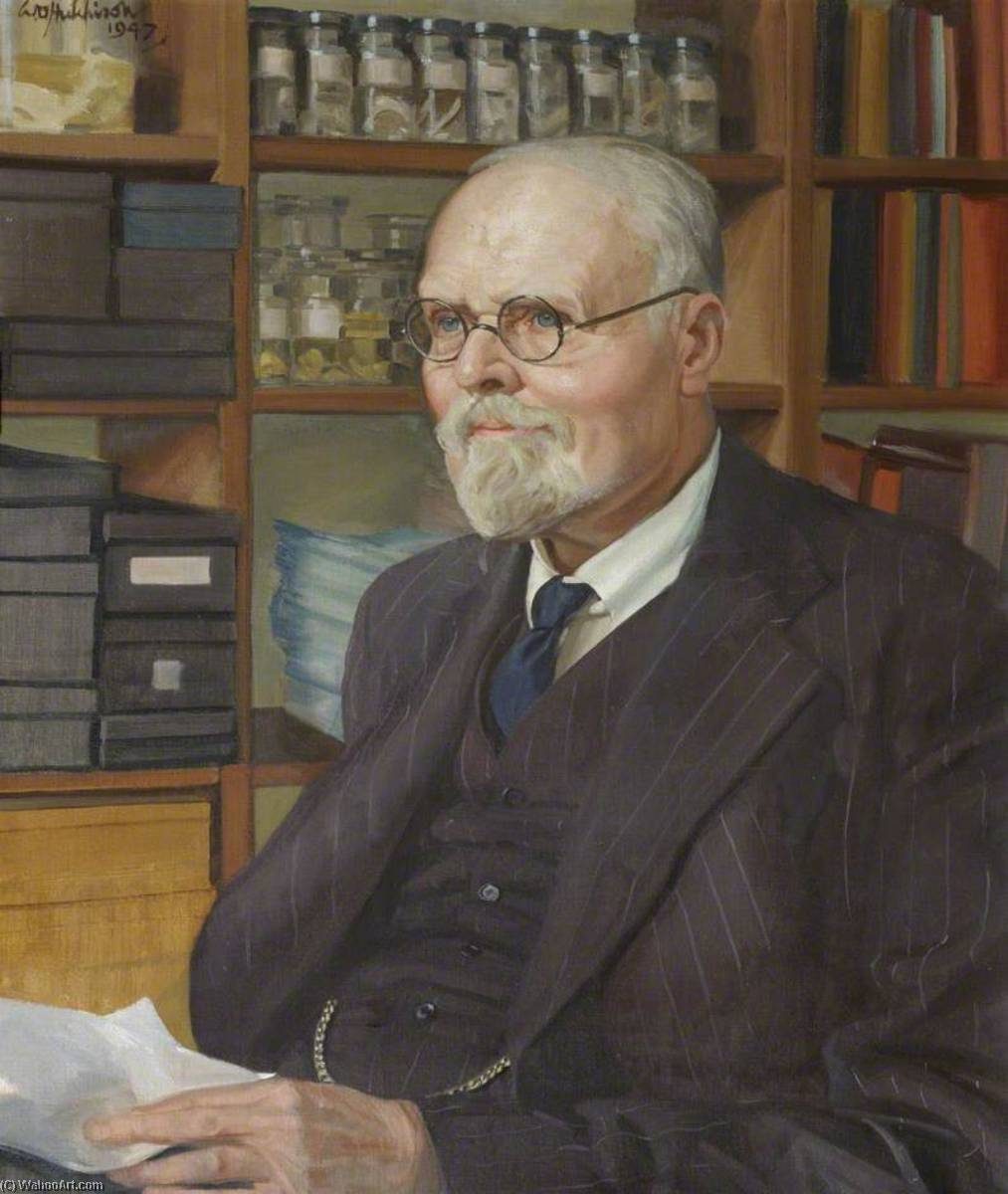 Francis Hugh Adam Marshall (1878–1949), CBE, ScD, FRS, Reader in Agricultural Physiology (1919–1949), Fellow (1919–1949), 1947 by William Oliphant Hutchison | Oil Painting | WahooArt.com