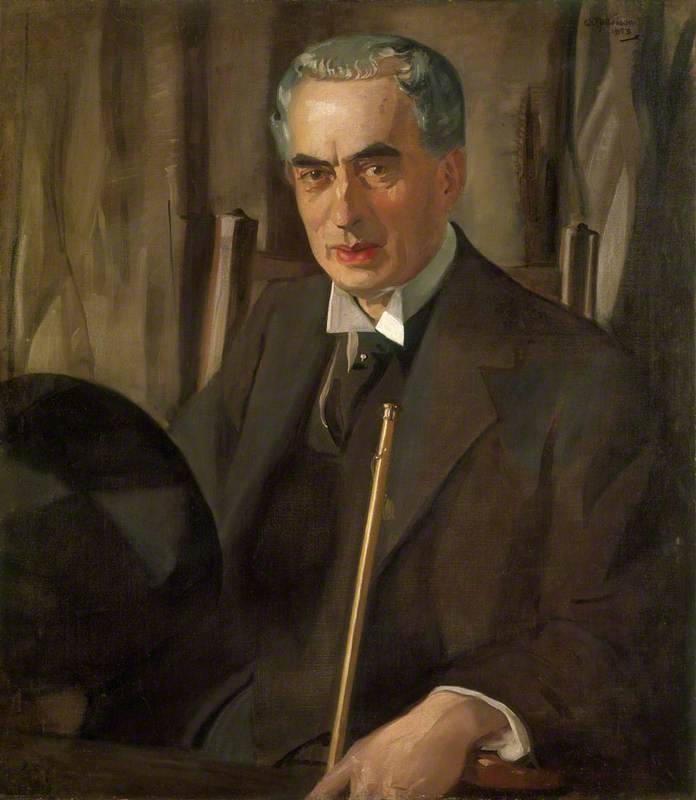 George Walton (1867–1933), Architect and Designer, Oil On Canvas by William Oliphant Hutchison