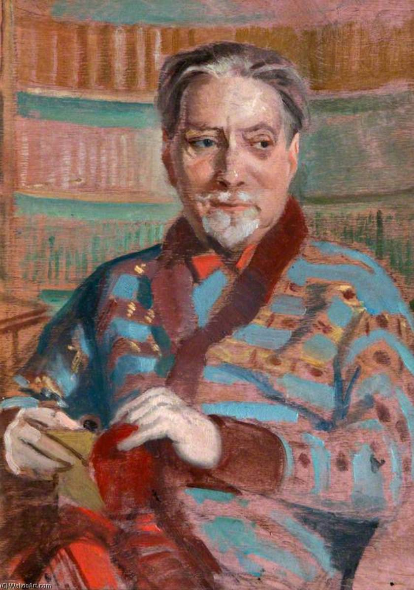 Sir Compton Mackenzie (1883–1972), Author, Wood by William Oliphant Hutchison