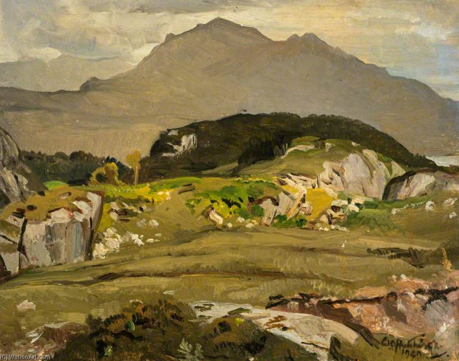 In Ross shire, 1949 by William Oliphant Hutchison | Painting Copy | WahooArt.com