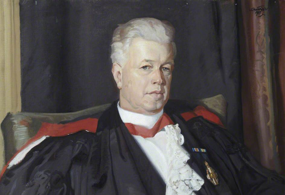 Dr James Hutchinson Cockburn (1882–1973), 1945 by William Oliphant Hutchison | Museum Quality Reproductions | WahooArt.com