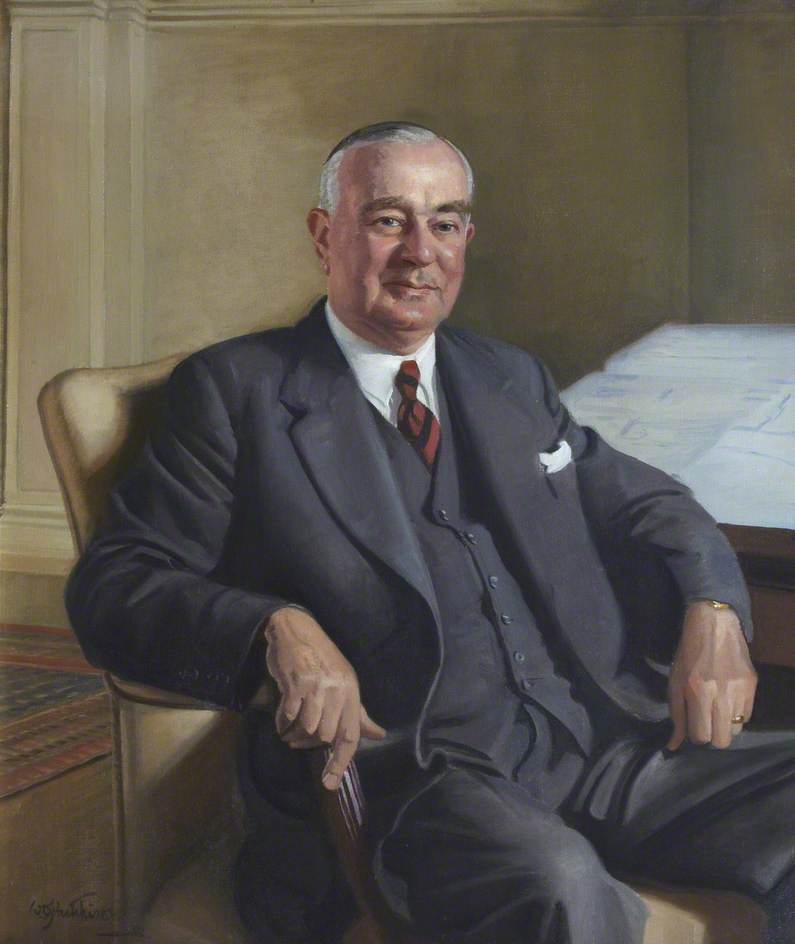 Sir Wilfred Ayre (1890–1971), Oil On Canvas by William Oliphant Hutchison