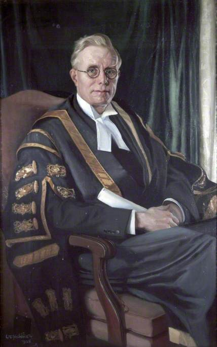 Sir Hector Hetherington (1888–1965), KBE, LLB, Vice Chancellor of University of Liverpool (1927–1936), Oil On Canvas by William Oliphant Hutchison
