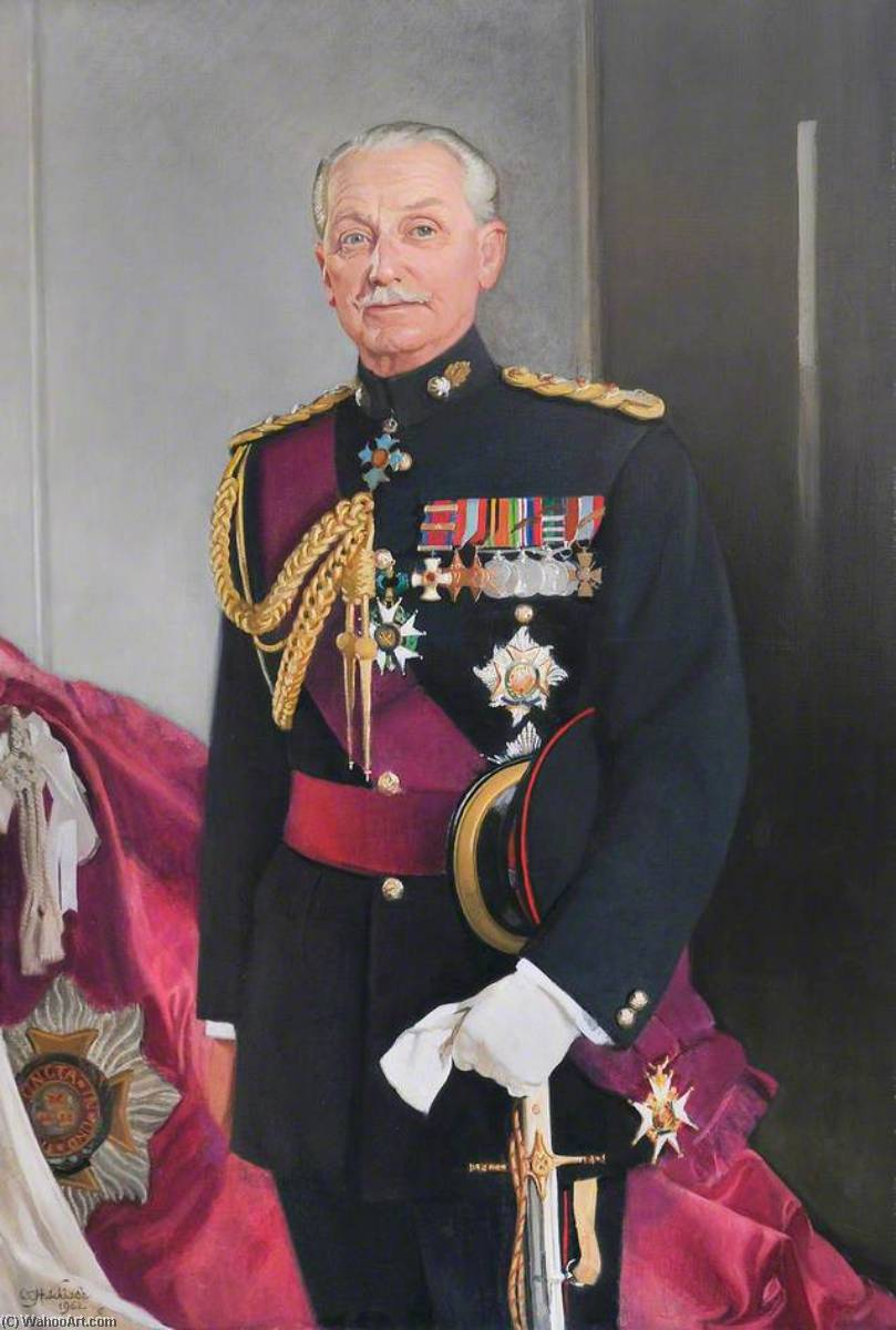General Sir Hugh Stockwell (1903–1986), Oil On Canvas by William Oliphant Hutchison