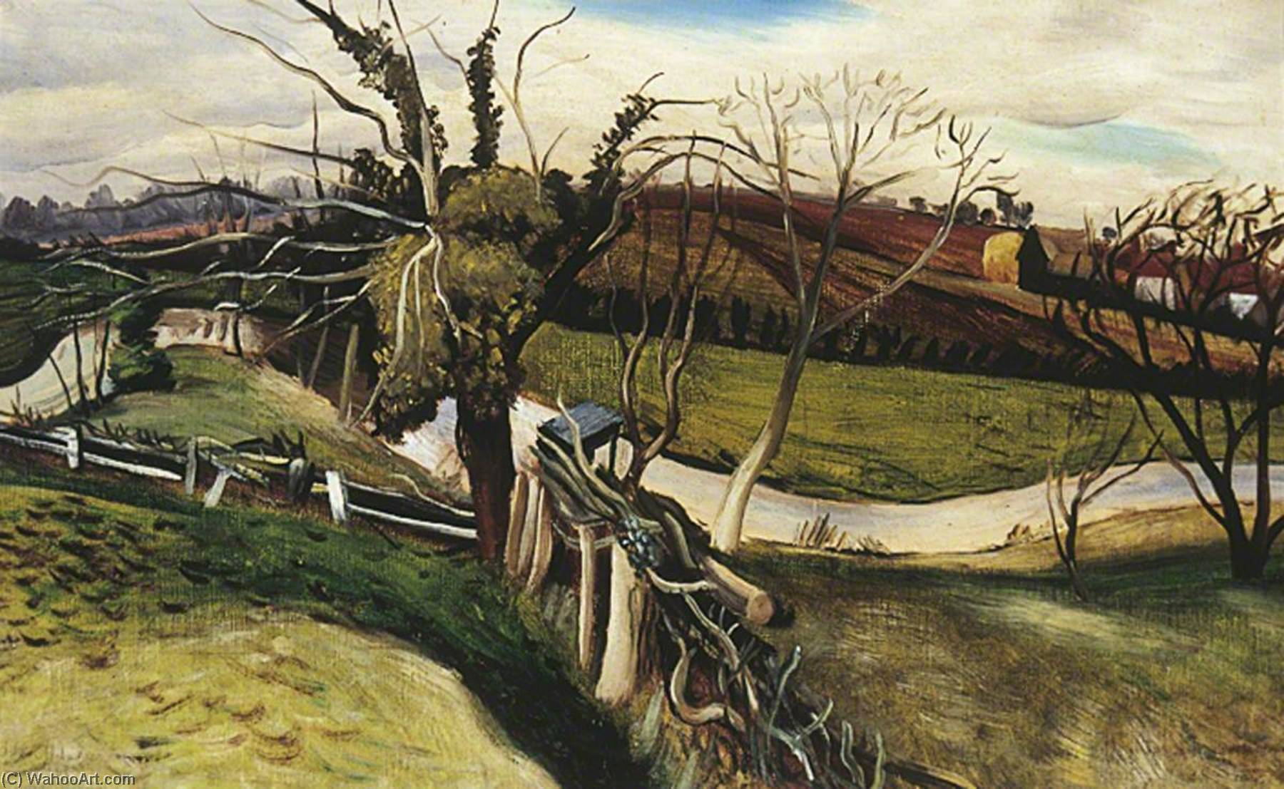 The River Pant, 1939 by John Arthur Malcolm Aldridge | Oil Painting | WahooArt.com