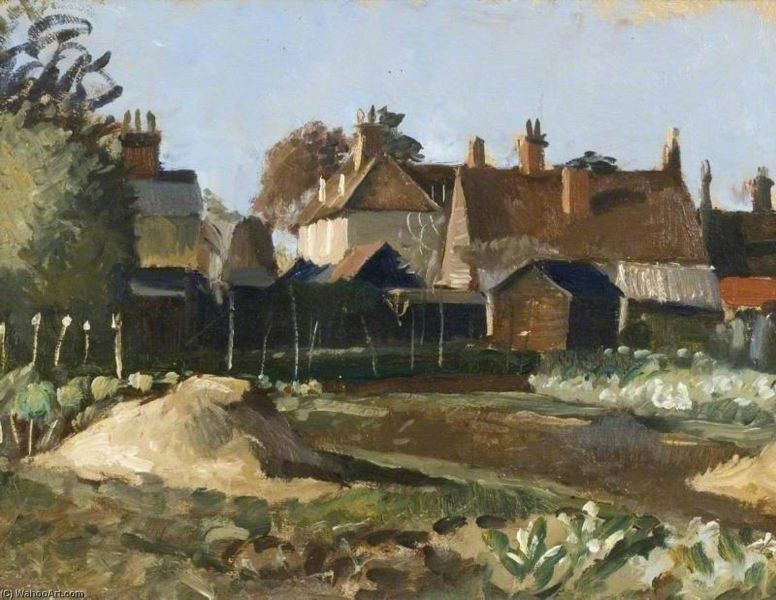 The Allotments by John Arthur Malcolm Aldridge | Museum Quality Reproductions | WahooArt.com