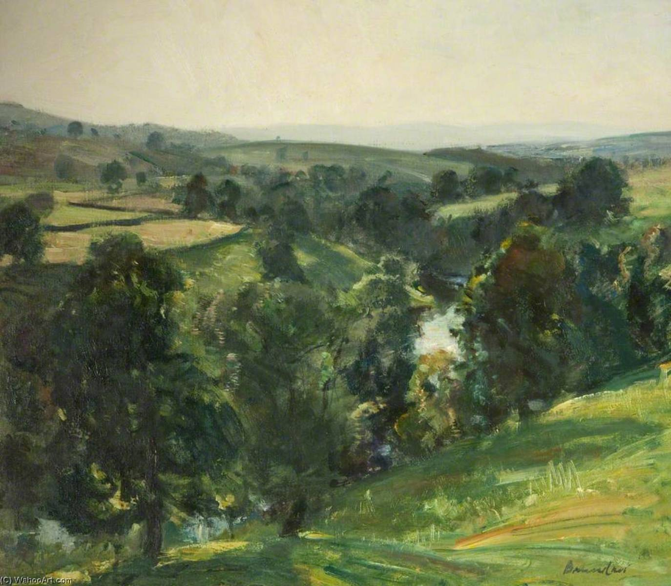 The Wooded Vale, 1933 by Reginald Grange Brundrit | WahooArt.com