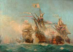 Harold Wyllie - The Armada