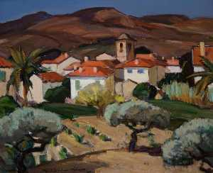 John Maclauchlan Milne - Red Roofs, Cassis