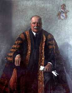 Edward Irvine Halliday - Edward George Villiers Stanley (1865–1948), The Right Honourable The Earl of Derby, KG, GCB, GCVO, LLD, Chancellor, University of Liverpool, (1908–1948)