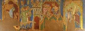 Ernest William Tristram - Reconstruction of Medieval Mural Painting, Story of Hezekiah