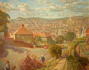 Thomas Roland Rathmell - Newport from Christchurch Road