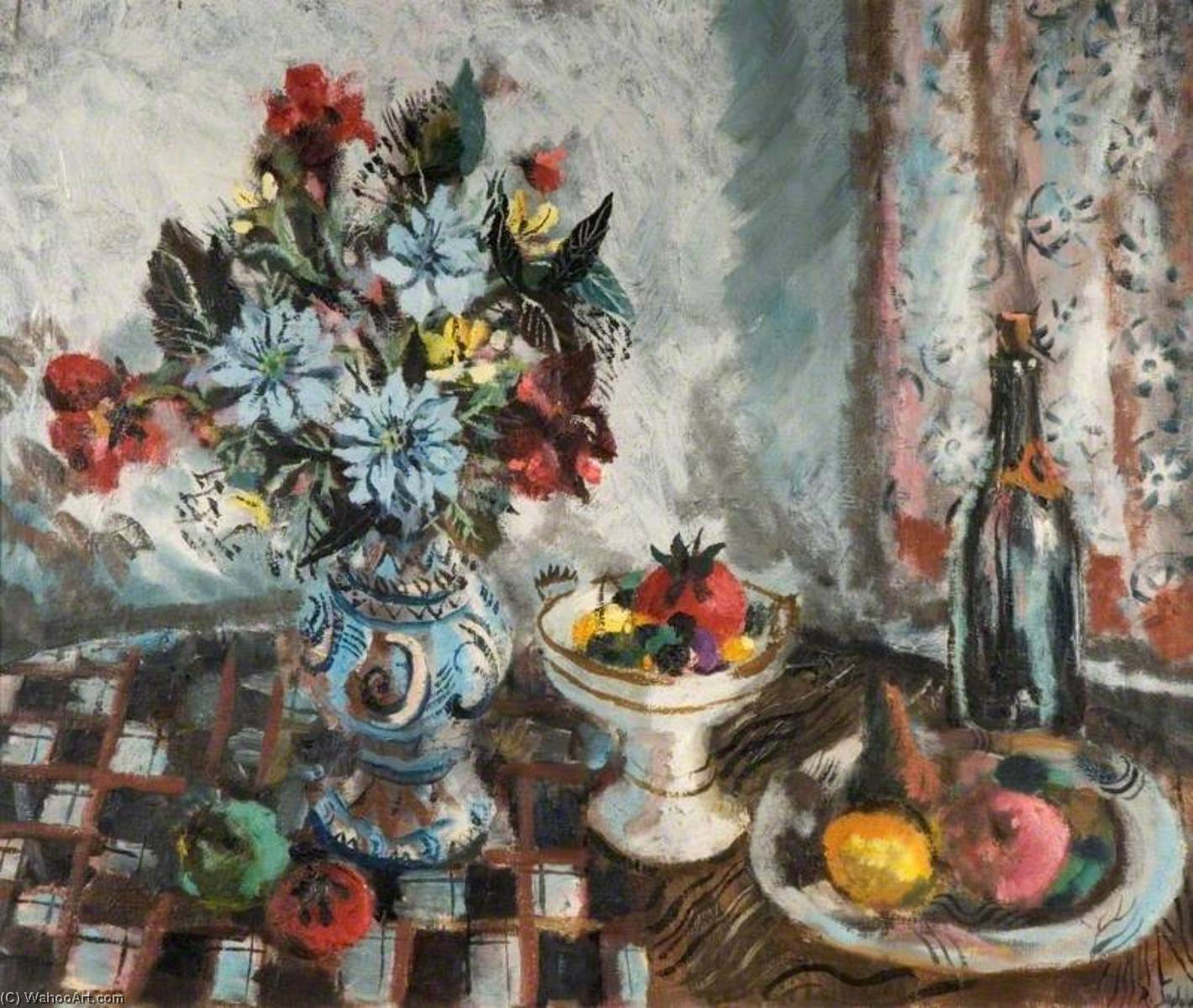 Still Life with Fruit and Flowers by Rowland Suddaby | Oil Painting | WahooArt.com