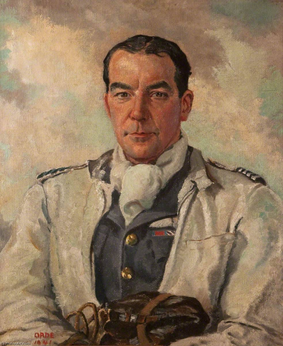 Group Captain Harry Broadhurst (1905–1995), DSO and Bar, DFC, AFC, 1941 by Cuthbert Julian Orde | WahooArt.com