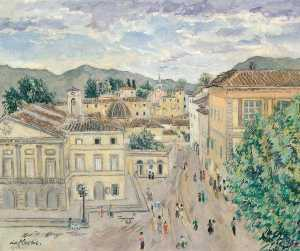 Enslin Du Plessis - Piazza Puccini, Lucca