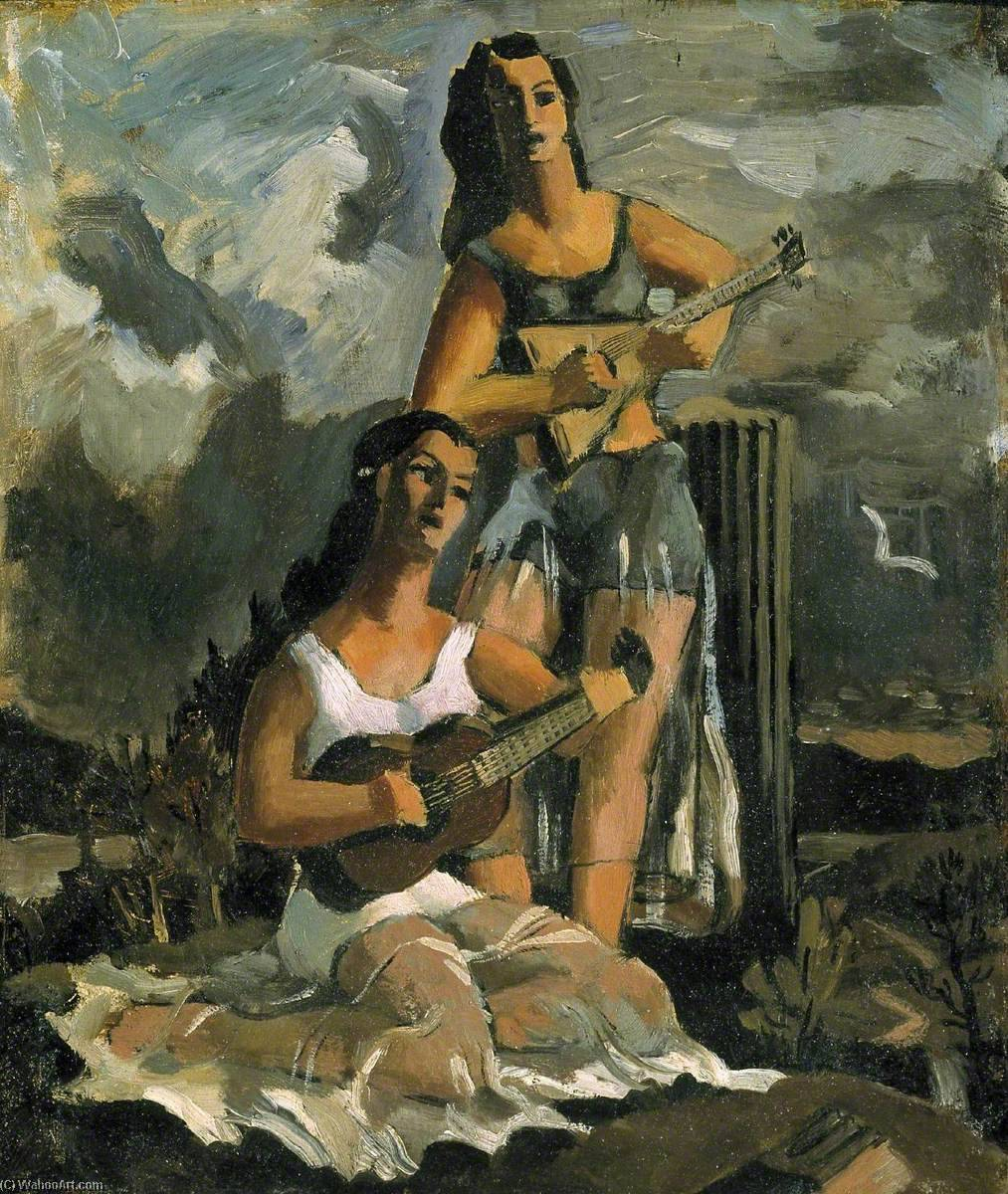 The Guitar Players, 1933 by Kenneth Rowntree | Art Reproduction | WahooArt.com