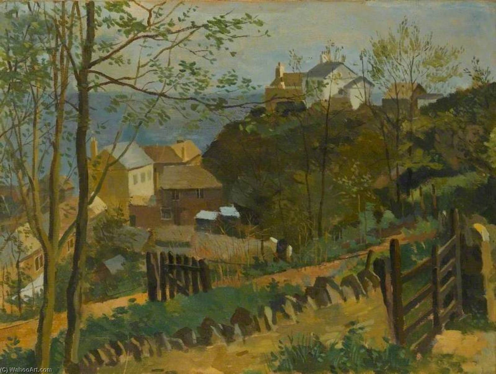 The White House, Torcross, 1938 by Kenneth Rowntree | Art Reproduction | WahooArt.com