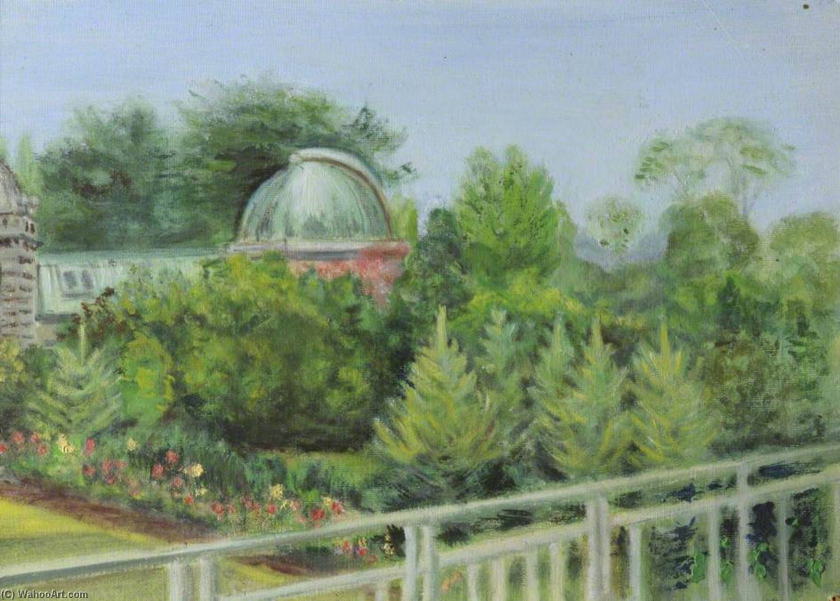 Order Paintings Reproductions | The Observatory Gardens, The Parks, Oxford (formerly the view from the Professor`s office), 1948 by Cyril Norman Hinshelwood (1897-1967, United Kingdom) | WahooArt.com