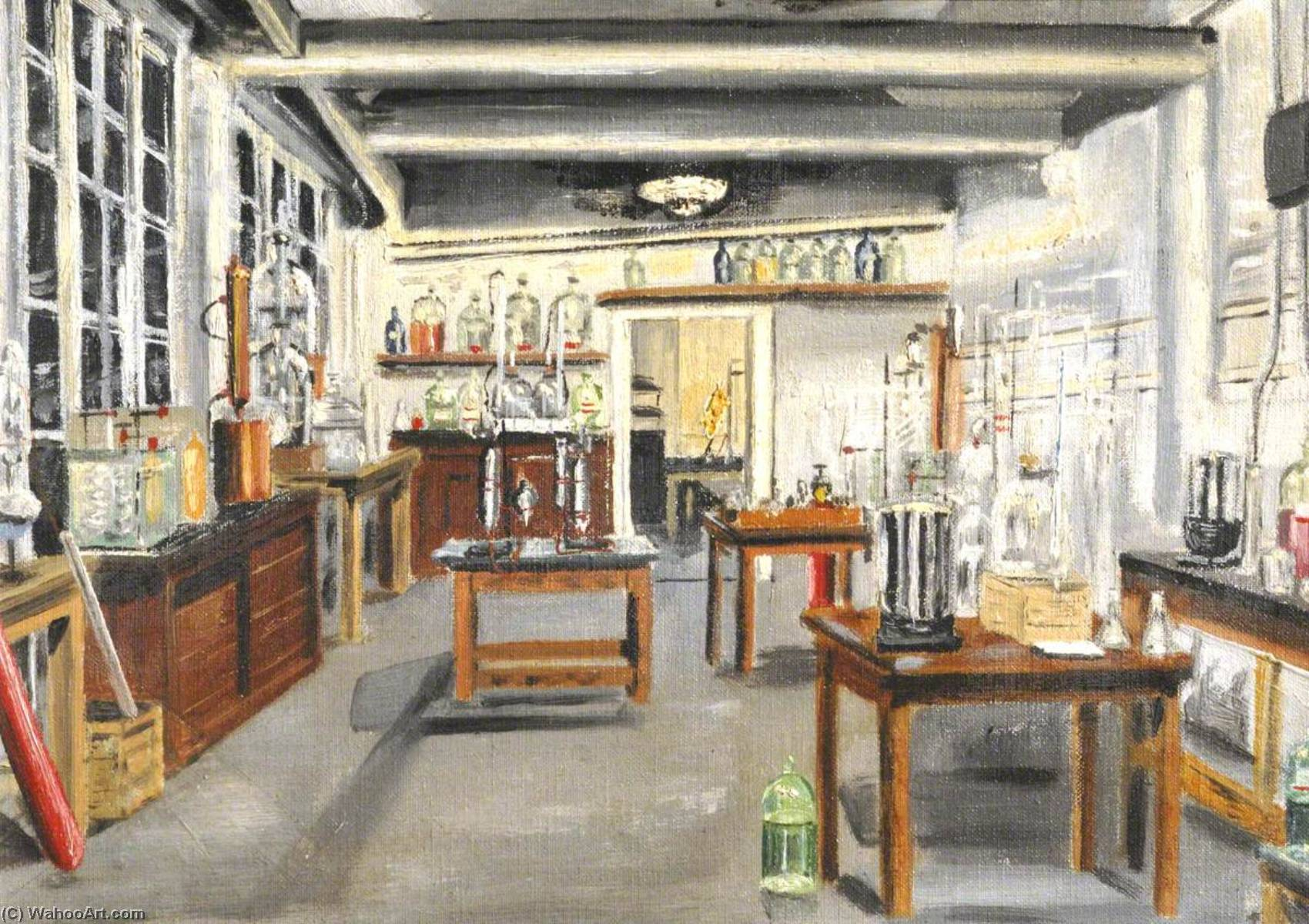 The Dolphin Yard Laboratory, Oil by Cyril Norman Hinshelwood (1897-1967, United Kingdom)