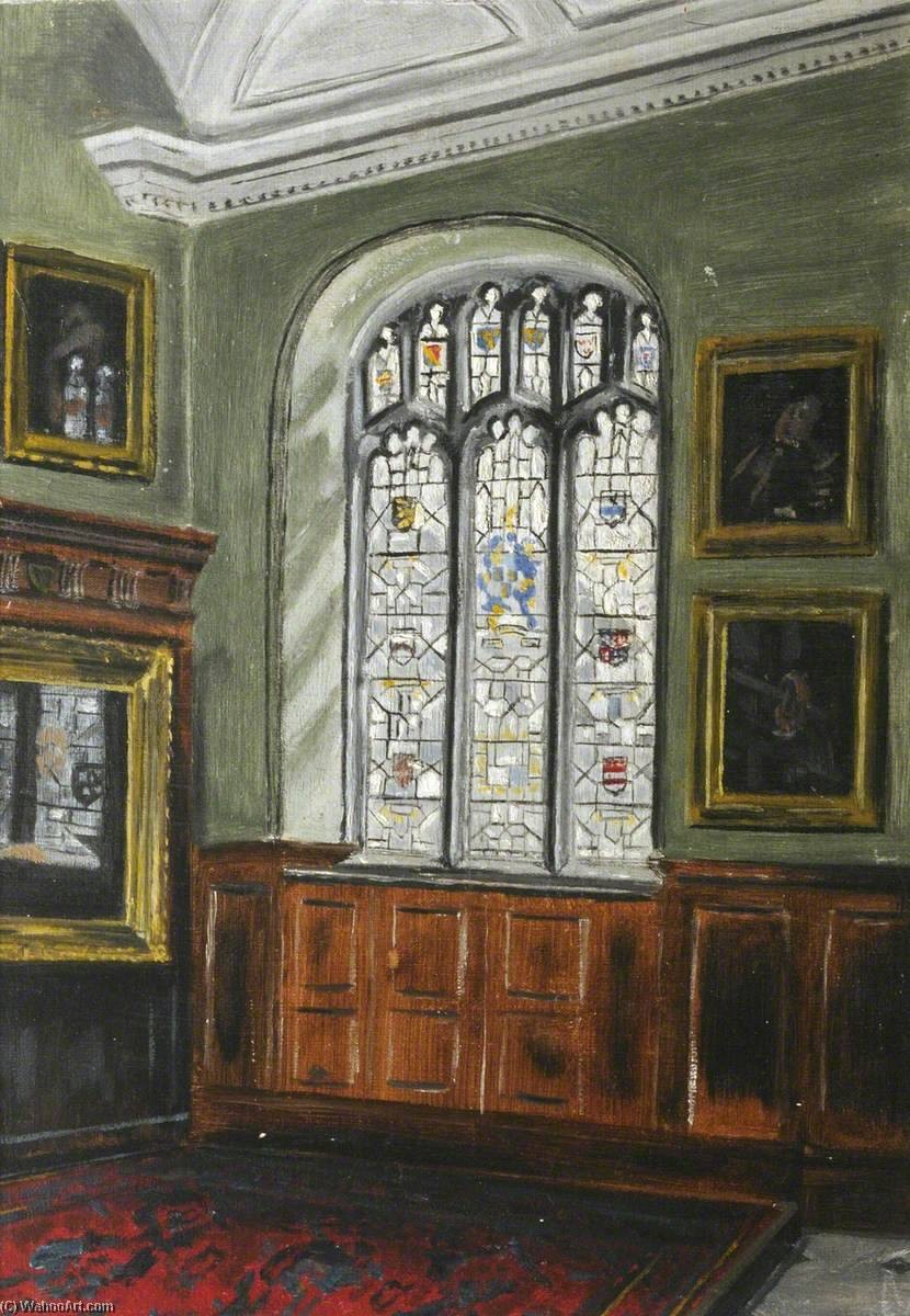 The Hall and R. W. Raper Memorial Window by Cyril Norman Hinshelwood (1897-1967, United Kingdom) | WahooArt.com