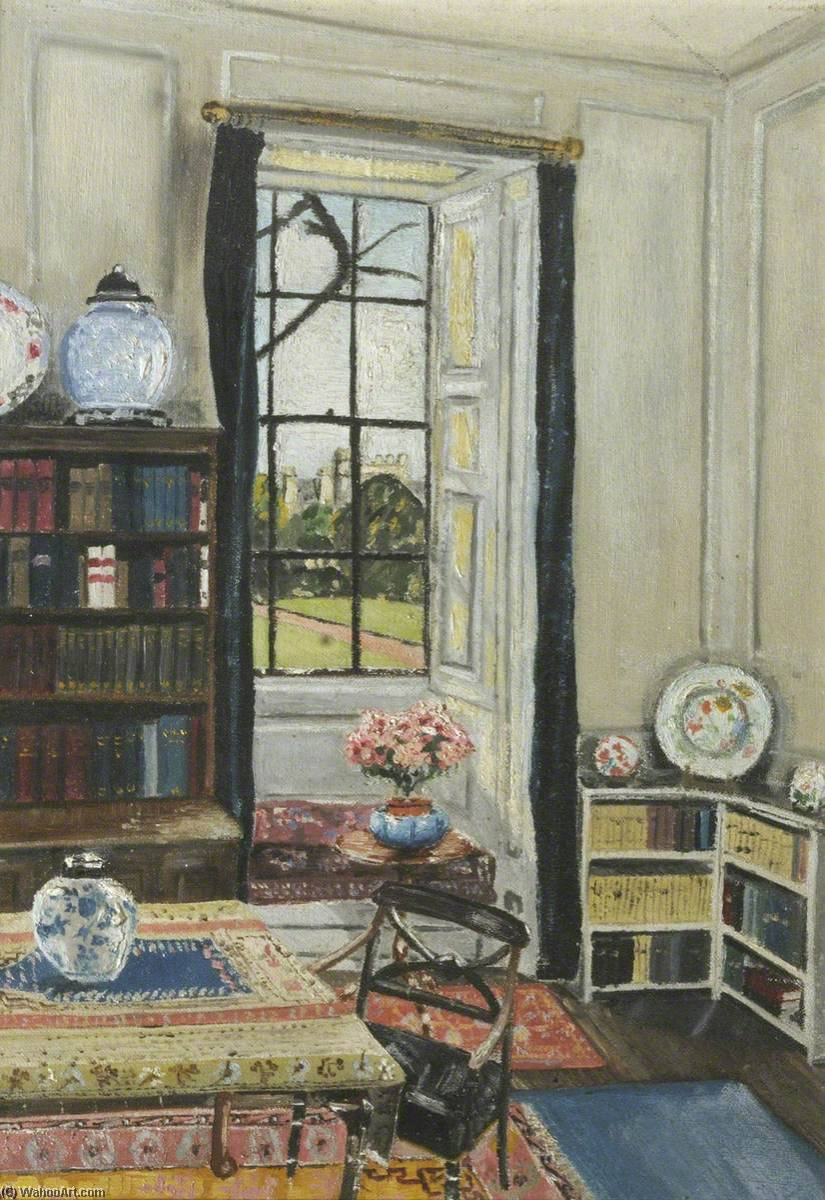 Interior of Hinshelwood's Room, Oil by Cyril Norman Hinshelwood (1897-1967, United Kingdom)