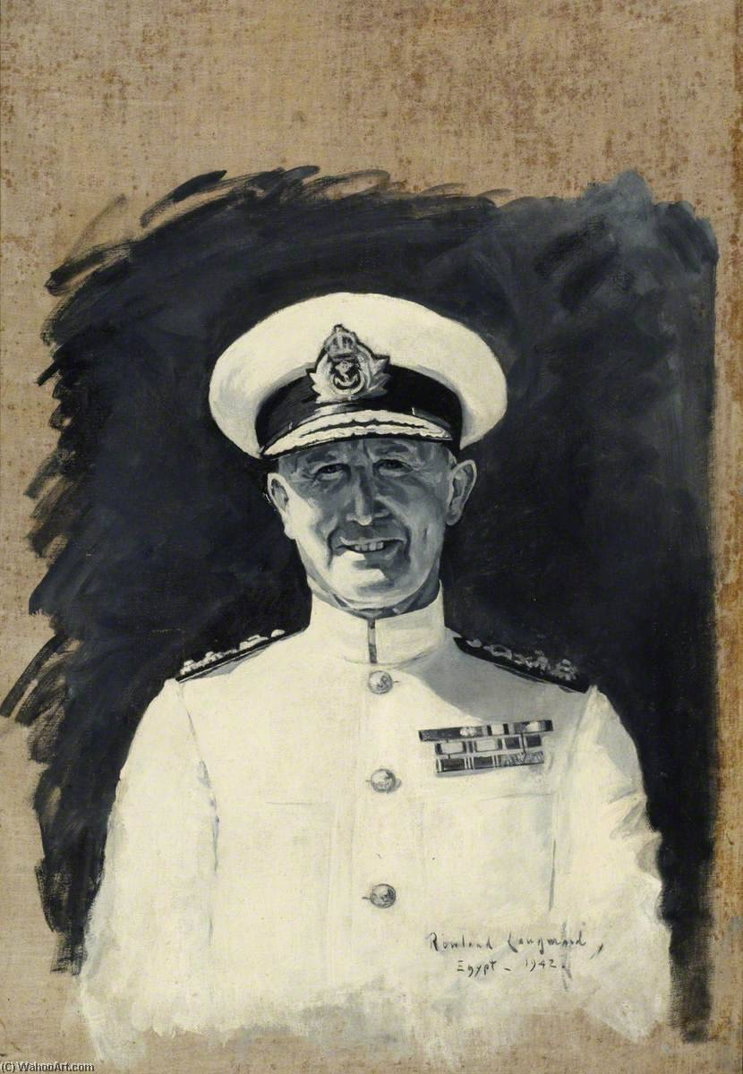 Admiral Andrew Browne Cunningham (1883–1963), Oil On Canvas by Rowland Langmaid