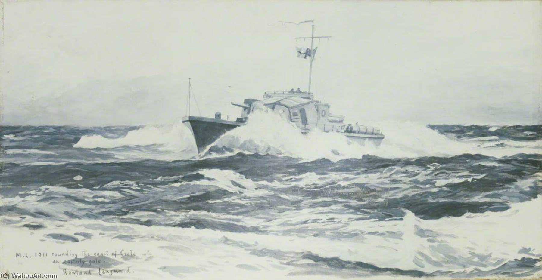 ML 1011 off Crete, Oil On Canvas by Rowland Langmaid